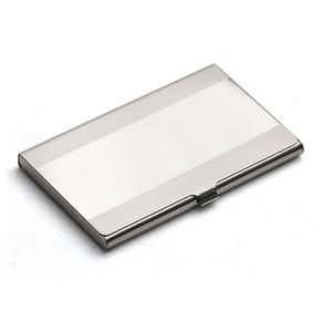 Women Men Business Card Holder Creative Metal Holder Stainless Steel Box Men Credit Business Card Case Wallet Box VTKY2368