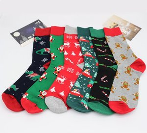 Christmas Socks Cartoon Stocking Santa Claus Beer Printted Socks Men Casual Cartoon Christmas Stocking Xmas Sport Home Socks Gift SN1779