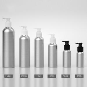 30pcs 30ML 50ML 100ml 150ML 250ML aluminum bottle,Screw emulsion pump bottle With black   White transparent