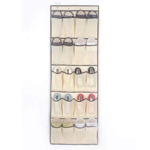 20 bolsillos no tejidos colgantes bolsas de almacenamiento titular de la puerta zapatos de la casa Organizando la bolsa con el gancho Espacio Saver Organizer marítimo envío DHF3339