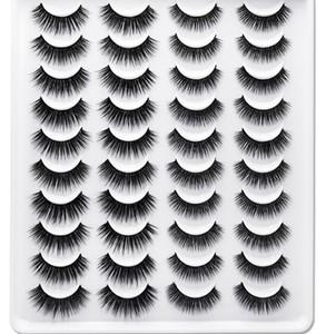 20 Pairs Natural False Eyelashes Fake Lashes Long Makeup 3D Faux Mink Eyelashes Eyelash Extension Mink Beauty Makeup