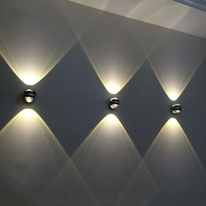 LED Wall Light Aluminium UP and Down Indoor Lighting Light Fixture Wall Lamp For Bedside Living Room Bedroom Aisle Lamp