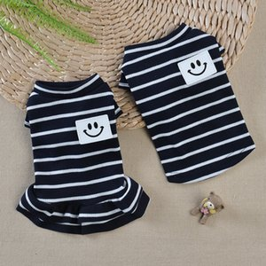 Striped Dog Clothes Summer Pet Vest For Dogs Costume Chihuahua Yorkshire Pet Dresses Cotton Dog Vest Shirt Puppy Pets Clothing