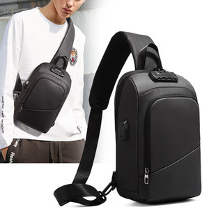 Factory Direct New Mens One-Shoulder Fashion Cool over-the-Shoulder Bag European and American Style Small Bag USB Charging Anti-Theft Chest