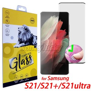 Per Samsung Galaxy Note20 Ultra S21 S20 Ultra S10 S9 S8 Nota10 Plus Note9 Note8 Cassa 5D Friendly Temperato Protezione dello schermo in vetro temperato con scatola