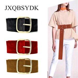 JXQBSYDK Cinturones para mujeres Personalidad de la moda más Beleves de terciopelo de alta calidad Cintura delgada de la cintura femme