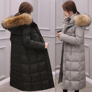 Winter Natural Raccoon Fur collar Down Jackets Fashion Women's Down Coats Long Thicken Parkas Outerwear YR23