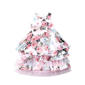 3-8years Toddler Kid Girls Flower Dress Ruffles Tulle Lace Party Wedding Birthday Tutu Dresses For Girls Child sqcHyM
