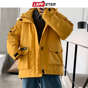 LAPPSTER Men Streetwear Winter Jacket Black Mens Harajuku Overcoat Cargo Jackets Parka Korean Casual Autumn Coats Plus Size 201120
