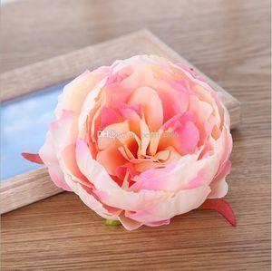10см высокого качества имитации пион цветок голова свадьба шелк DIY большой декоративный искусственные s