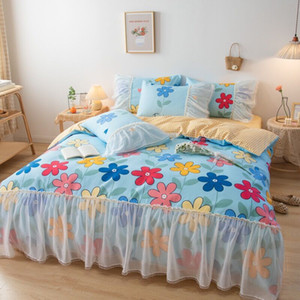 2020 colorful designer bedding sets with puffy edge queen size designer bedding pillow cases designer luxury winter bedding in stock