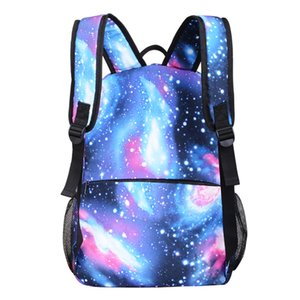 Leather Luggage Tag School Season Luminous Starry Sky Pupils Bag Foreign Trade Popular Style Backpack Oxford Mens Backpack