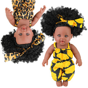 hot sale black dolls for kids relistic silicone vinyl baby doll girls gift collection with dress