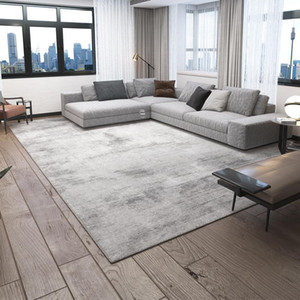 Brief Gray Carpet for Living Room Luxurious Modern Home Bedroom Carpet Decorative Thick Coffee Table Area Rug Non-slip Floor Mat
