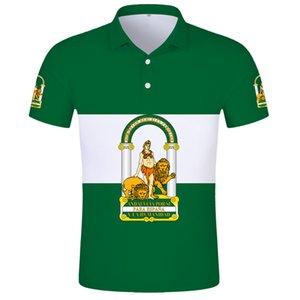 Andalousie Polo Shirt Free Custom Custom Nom Numéro Sevilla Polo Chemise Imprimer Word Malaga Cadix Granada Huelva Almeria Espagne