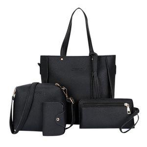 New Four-piece Shoulder Bag Messenger Bag Wallet Handbag Woman Leather Durable Retro Shoulder Sac Main Femme