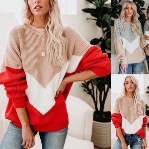 Женские пуловеры вязаные свитер Женская осень зима мода одежда вязание джемпер пуловер с длинным рукавом свободные повседневные вершины