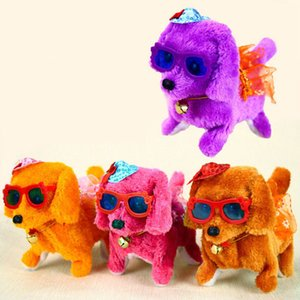 Electronic plush toys dog Pets Hot Selling New Fashion Walking Barking Toy High Quality Funny Electric Short Floss Dog Z2339