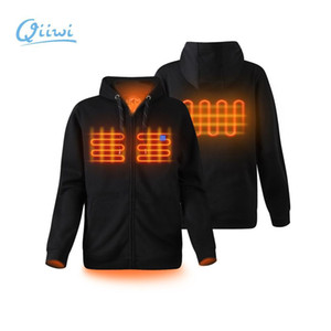 Dr.Qiiwi Mens Soft Shell Outdoor Heated Hoodie Fleece Jacket Lightweight Hooded Sweater for Women Unisex Q1202