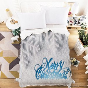 Merry Christmas Design Blanket 3D Creative Blanket Super Soft Fashionable Bed Gift For Children Bedroom Decor