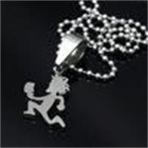 Navio de aço inoxidável pequeno de 1 '' 316L grau! Mini hatchetman encantos pingente de cadeia livre louco palhaço jóias posse twiztid uqxr