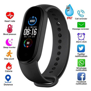 M5 Smart Band Fitness Tracker pulsera Pulsera Pedómetro Sport Watch Bluetooth 4.0 banda M5 Pantalla de color Pulsera inteligente