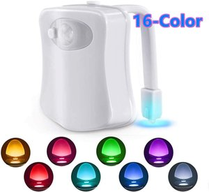 Toilet Night Light Motion Activated Detection Bathroom Bowl Lights Unique&Funny Birthday Gifts Idea Cool Fun Gadgets Gag Stocking Stuffers
