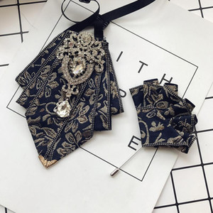 I-REMIEL Мужские галстуки Новые дизайнеры мода формальные мужские свадебные галстуки бабочки брошь для мужчин рубашка платье смокинг воротник боути