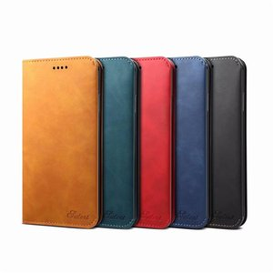 Top Quality PU Leather Simple Style Wallet Folding Case with Card Holder for Apple Iphone 11 X Multi Function Cover