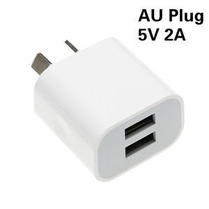 Factory Wholesale 5v 2A 2000ma Double USB Wall Cellphone Chargers AU Plug Power Supply Adapter for Iphone Samsung Xiaomi Huawei