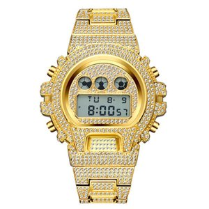 2020 Iced Out Diamond Watch For Men LED Digital Mens Watches G Style Waterproof Sports Wristwatch Man brand Fashion Male Clock Free Delivery