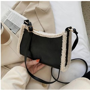 2020 Winter Furry Women Handbag New Fashion Retro Bag Wild Ins Single Shoulder Messenger Lamb Hair Small Square Crossbody Bag