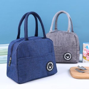 7 Colors lunch bag tote portable thermal bags waterproof lunch box zipper storage bags bento bag outdoor travel picnic thermal bag CCD2778