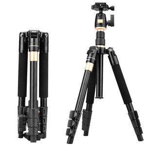 2019 Professional Extendable QZSD Q555 55.5 Inches Aluminium Alloy Camera Video Tripod Monopod With Quick Release Plate Stand
