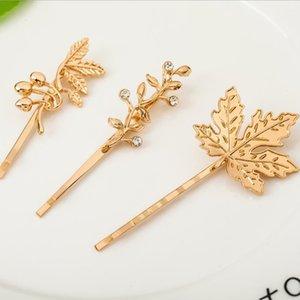 شكل شجرة أوراق مع الطيور على فرع الراتنج الماس دبوس الذهب أو الفضة مطلي للنساء الفتيات مقطع الشعر PS2331