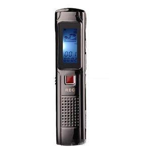 Estéreo largo de grabación 4 GB 8 GB de acero Grabadores de grabación digital de audio mini grabadora de voz con reproductor de MP3 para la grabación de debates