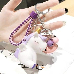 Mignon Licorne Dessinée Dluffy Doll Keychain Creative Sac Creative Pendentif Femelle Car Keychain 33