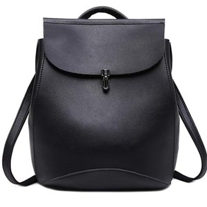 Newdiscvry многофункциональный рюкзак винтажные женщины рюкзаки черные путешествия rucksack pu leahter женские плечо простые школьные сумки