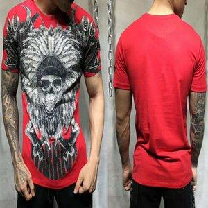 PP Sac Emballage! Mens de luxe Designer Shirts Crâne Imprimer la qualité Coton Fashion Hommes en vrac T-shirt T-shirt O-Cou Plus Taille DY3050 NJ3G
