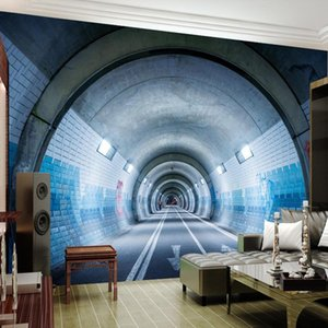 Custom Any Size Modern Abstract Art 3D Underground Tunnel Wall Painting Living Room Bedroom Sofa TV Background Mural Wallpaper