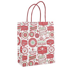 Presente de Natal Bag Kraft Saco Criativo Bronzing Bonito Dos Desenhos Animados De Embalagem De Natal Bolsas De Lona Livre DHL HHE4210