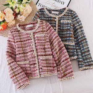 Tweed Women Elegant Pink Blazers 2020 Fashion Ladies Vintage Loose Blazer Jackets Casual Female Streetwear Suits Girls Chic