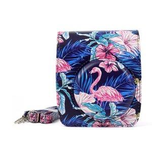 Fengling Flamingo motif PU Caméra de protection en cuir PU pour Fujifilm Instax Mini90 Caméra