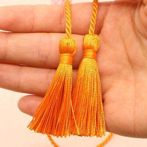 5 unids 54cm Cinta de la cuerda Dos Borlas Largas DIY Craft Ropa Accesorios Accesorios Decoración Fringe Trim Casa Textil Cortina Tassels Colgante H Jllata