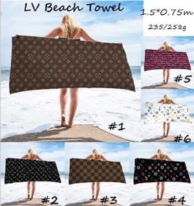 Verão Quick Seco Mulheres Toalha de Praia Moda carta Impresso Mulheres Casa Banheira Toalha Atacado Microfiber Girl Long Towel Presentes Conjuntos 2020 Novo