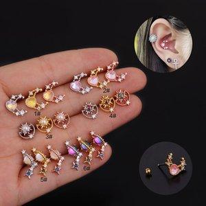 Lady Stainless Steel Ear Clips Cartilage Earring Cuffs Non Piercing Earrings for Women Tiny Boho Beach Simple Earring Jewelry Kimter-L959FA