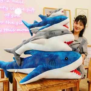 New Hot Selling Novelty 40~150cm Plush Toys Soft Animal Stuffed Giant Shark Whale Dolls Cushion Pillow Toys Boys Birthday New Year Gifts