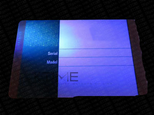 Best Quality Protective Plastic Watch Case Green Warranty Card Custom Print Model Serial Number Address Name Hologram Card Price Tag
