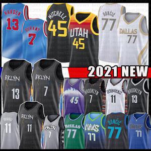 7 Kevin Luka 77 Durant 13 Härten Doncic Donovan Kyrie 11 45 Irving Mitchell Basketball Jersey Biggie Kristaps John Porzingis Stockton Gobert