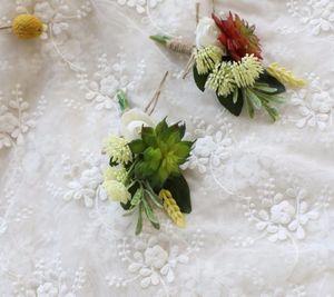 10pcs lot bridegroom corsage flower for wedding decoration